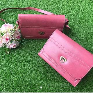 1 For $6, 2 For $10 Elegant Dusty Pink Chic Handbag