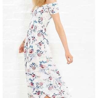 Shirred Midi Dress Size 12