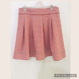Striped Red skirt