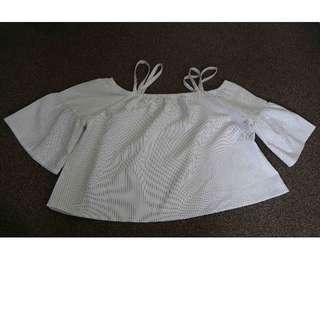 White Striped Shirt.