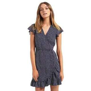 NEW Seed Heritage Spot Frill Wrap dress Size 8