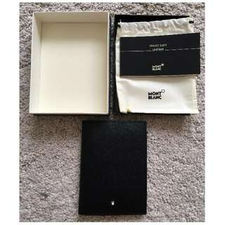 Black Leather Montblanc Sartorial Passport Holder Brand New Genuine RRP SGD 319