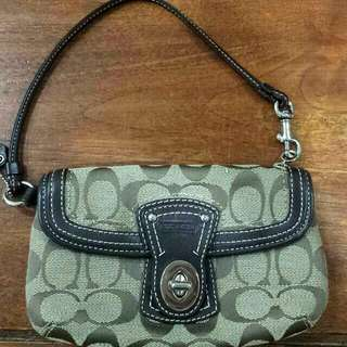 Authentic Coach Signature Clutch / Wristlet
