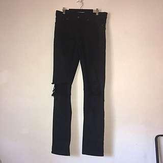 "Ksubi Men's Jeans 31"" Black Distressed Denim"