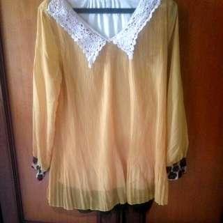 Baju Kuning Chiffon