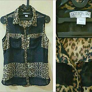 Cotton on Top Leopard