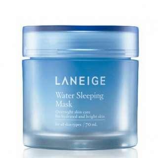 蘭芝 晚安凍膜 睡美人香氛水凝膜 淨亮保濕升級版 70ml