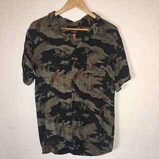 Neuw Men's Short Sleeve Printed Shirt Medium