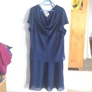 Navy Sabrina Dress