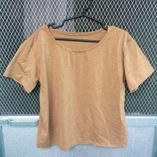 Golden Brown Glittery Top