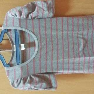 Striped Gray Blouse
