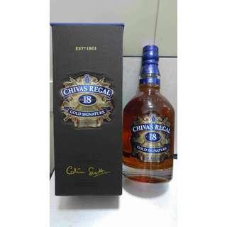Chivas Regal 18 Years Old Scotch Whisky 700ml 40% vol 蘇格蘭芝華士18年威士忌