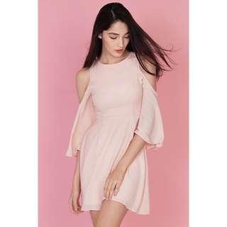 Charlotte Cold Shoulder Dress In Pink