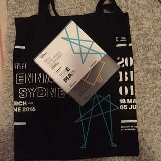 2016 Biennale Of Sydney Tote Bag With The Guid Book