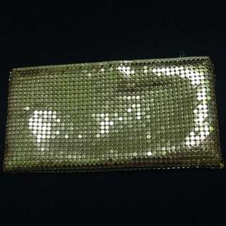 Clarins Gold Pouch/Clutch Bag