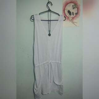Coco Cabana white see-through cover-up (size S)