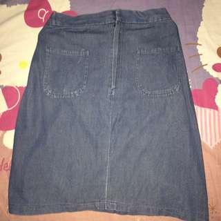 Preloved Mini Denim Skirt