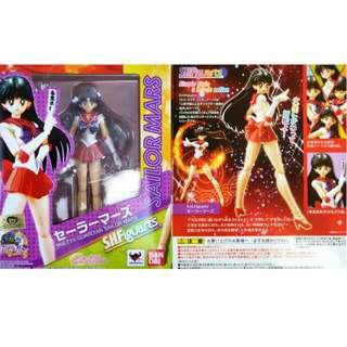 Bandai Sh figuarts Sailor Mars posable figure sailormoon anime manga Japan