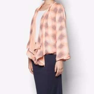 ZALORA Peach Kimono Top