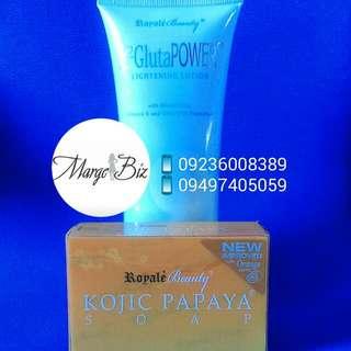 Royale Lotion and Kojic Papaya Soap