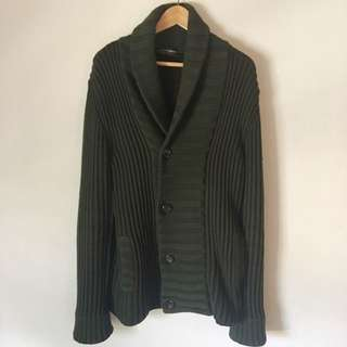 Dolce And Gabbana Men's Forest Green Knit Jacket