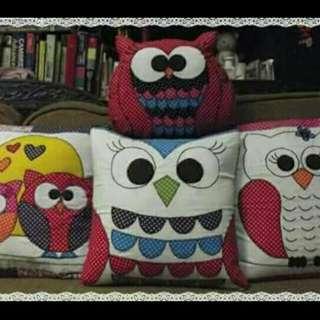 Sarung Bantal Kursi Motif Owl