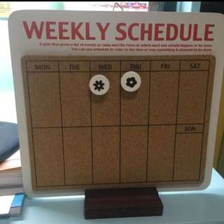 Notice Board / 水松板 / Weekly Schedule Board