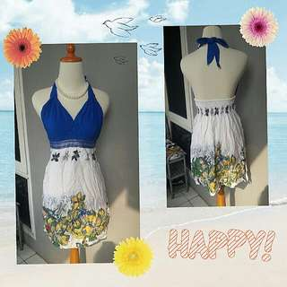 Flower Dress Blue - S to M