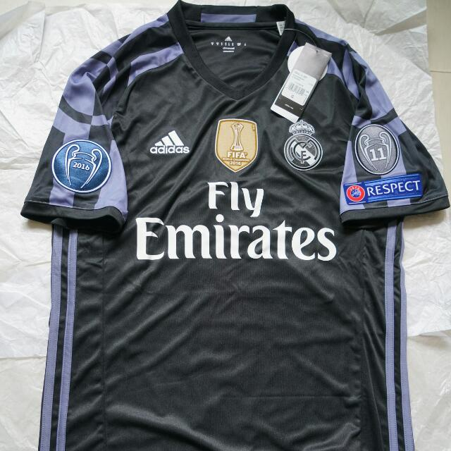 105e3d6352a Adidas Real Madrid 2016 17 UCL Climacool Thrid Jersey