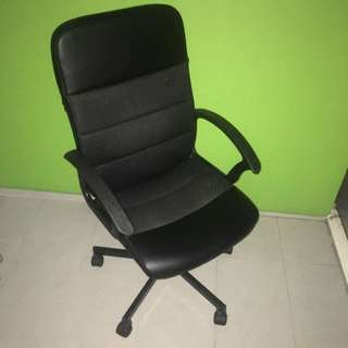 4 Wheels Leather Study/office Chair