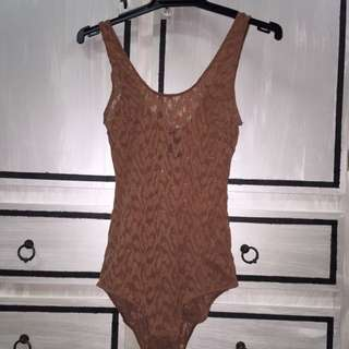 Brown Bodysuit