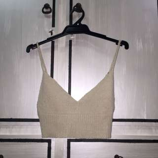 Beige Crochet Crop Top