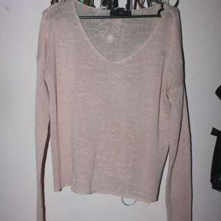 Pink Long Sleeve Sweater