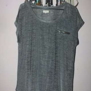 Metalic Grey Loose Shirt
