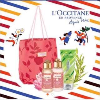L'occitane 歐舒丹 玫瑰花繡沐浴組