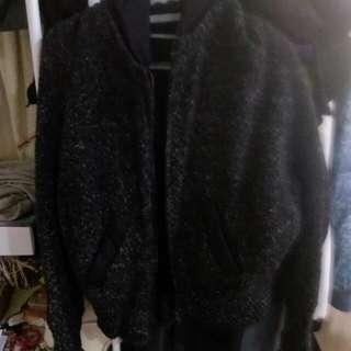正韓 針織 毛衣 內刷毛 外套