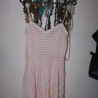 Midi Pink Stripes Dress