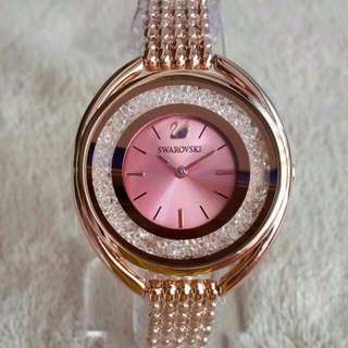 SWAROVSKI CRYSTALLINE PINK DIAL ROSEGOLD ON BRACELET FASHION LADIES WATCH