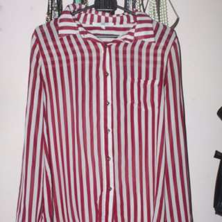 Red Long Stripes Shirt