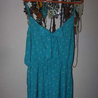 Mini Blue Beach Dress