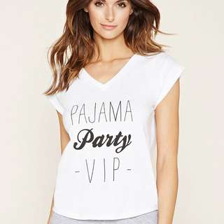 FOREVER 21 PAJAMA PARTY VIP BLOUSE