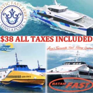 Batam Ferry 2 Way Tickets SIN-BTM-SIN