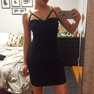 French Connection Sexy Strappy Little Black Dress