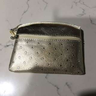 Gold Pouch With Embossed Star