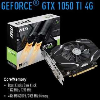 MSI GTX 1050 TI 4G.     ( Non OC )