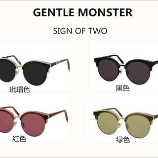 Gentle Monster GM SIGN OF TWO 太陽眼鏡
