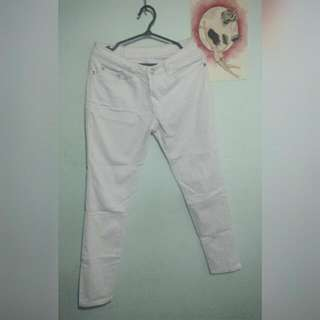 White cotton skinny jeans (size 26)