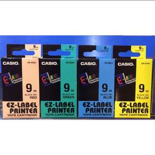 [Other Colour & Sizes Available] Casio EZ-LABEL Tape Cartridge (6mm/9mm/12mm/18mm/24mm)