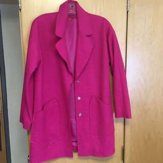 Over-Sized Pink Coat