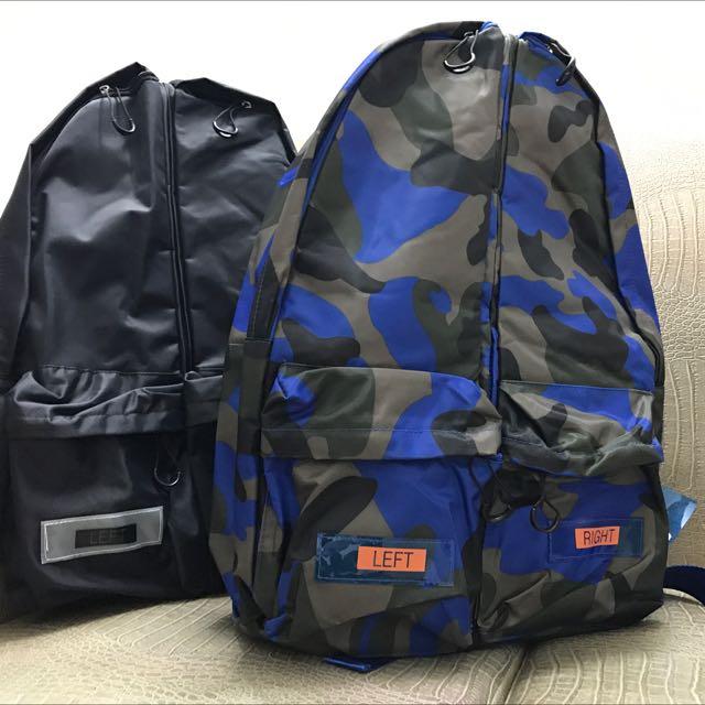 ⭐️超特別⭐️二合一可拆子母拼貼防潑水後背側背包